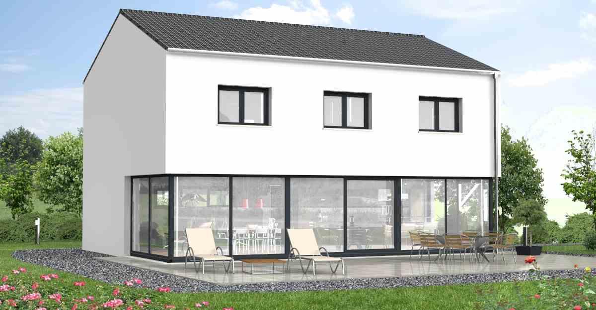 Haus des monats for Architektenhaus satteldach modern